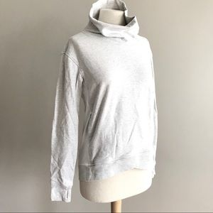 Lululemon on the double pullover cowl neck gray 8